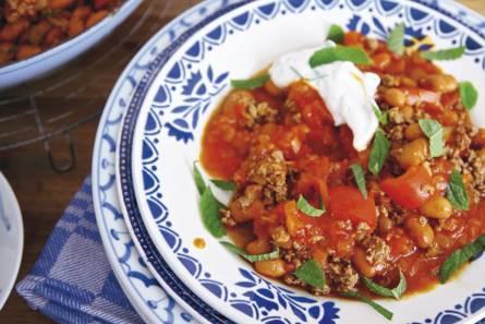 Chili con carne muntyoughurt